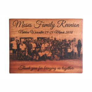 African Mahogany Photo Board - 220 x 340 mm - Family