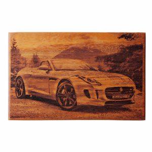 African Mahogany Photo Board - 220 x 340 mm - Jaguar