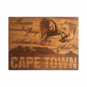 Iroko Photo Board - 300 x 400 mm - Cape Town