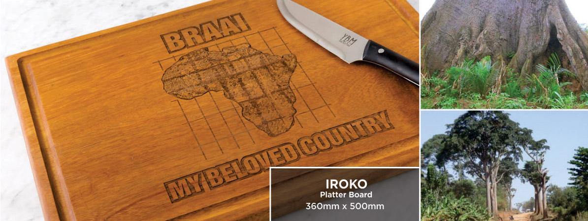 Exotic African Woods | Iroko Cutting Board | YBM: Your Best Mark