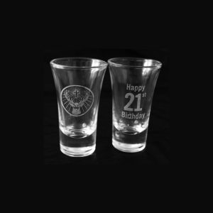 Shooter Glasses - 21st Engraving