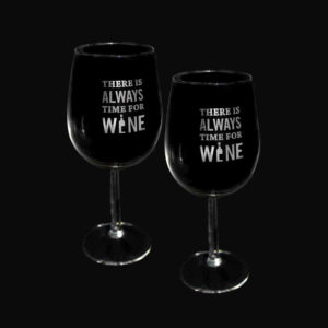 Wine Glasses - Side Engraving